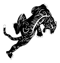 image of tiger tattoo vector image