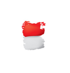 Indonesia flag on a white vector