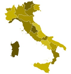 Italy regions map vector image