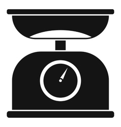 Kitchen scales icon simple style vector