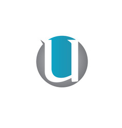Letter u icons such logos vector