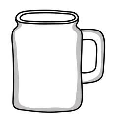 Liquid jar glass container icon vector