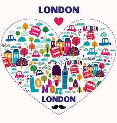 London new heart vector