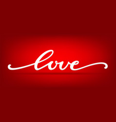 love word hand drawn lettering beautifully vector image