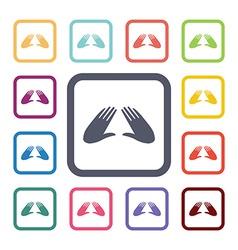 massage flat icons set vector image