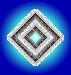 Metal diamond vector