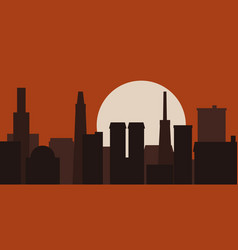 modern city skyline sunrise vector image