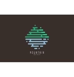 Mountain line logo Beautiful logo Creative logo vector