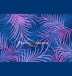 Palm leaves colors vector