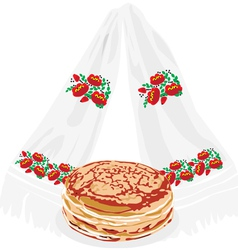 Pancakes and tovel vector