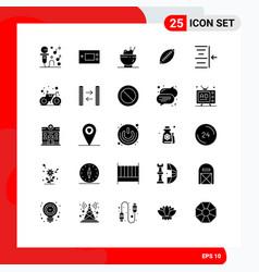 Pictograph set 25 simple solid glyphs sport vector