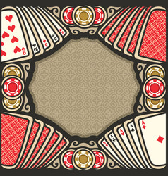 poster for poker vector image