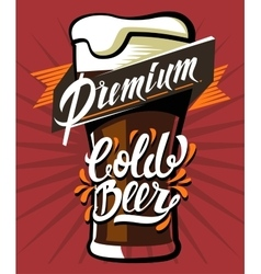 Poster of cold beer vector
