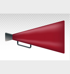 Red retro old megaphone flat icons for apps vector