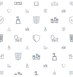 Royal icons pattern seamless white background vector