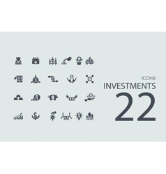 Set of investments icons vector