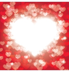 shining heart vector image