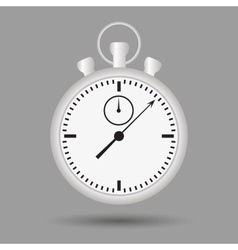 silver stopwatch case and dials with hands eps10 vector image