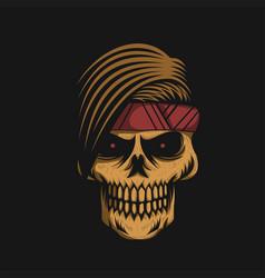 Skull headband vector