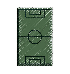 Soccer or football field vector