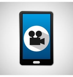 Social media mobile video movie vector