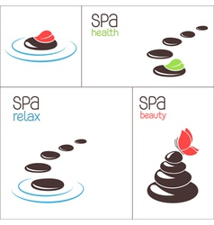SPA stones and pebbles vector