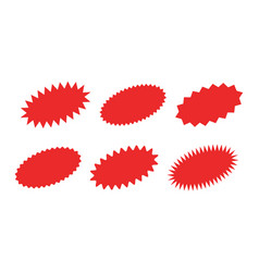 Starburst sticker set - collection special vector