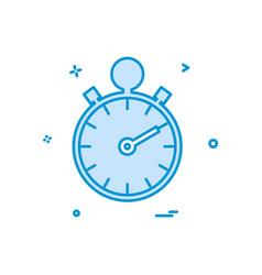 stop watch icon design vector image