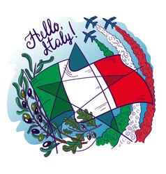 Symbols italy- frecce tricolori tricolour vector