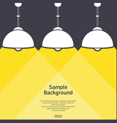 three lamps with light background vector image