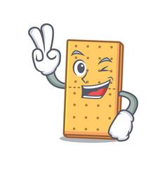 Two finger graham cookies character cartoon vector