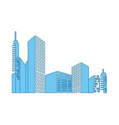 Urban cityscape view vector