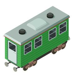 Wagon passenger icon isometric 3d style vector