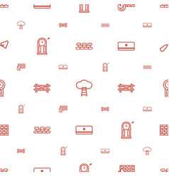 wall icons pattern seamless white background vector image