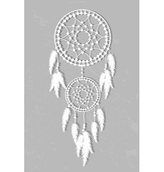 White dream catcher vector image
