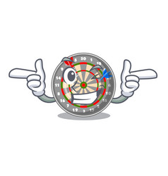 Wink dartboard in the shape of mascot vector