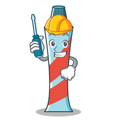 automotive toothpaste character cartoon style vector image vector image