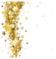 background with gold stars vector image vector image