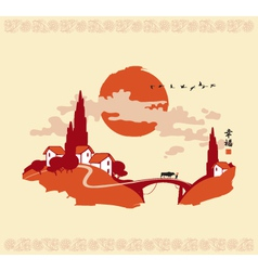 china landscape 001 vector image vector image