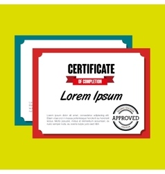 diploma certificate isolated icon design vector image