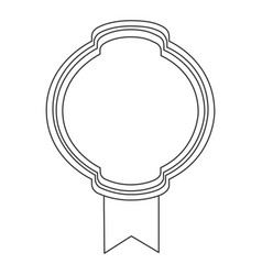 figure emblem with ribbon icon vector image vector image