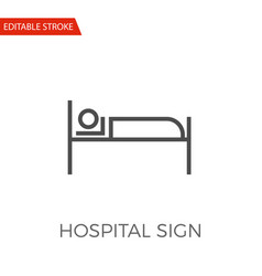 hospital sign icon vector image vector image