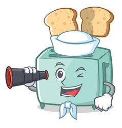 sailor toaster character cartoon style vector image vector image