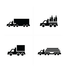 truck and transport icons vector image