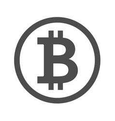 bitcoin sign icon for internet money vector image