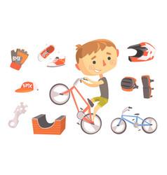 boy bmx bike rider kids future dream professional vector image vector image