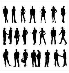 Business People Silhouette vector image