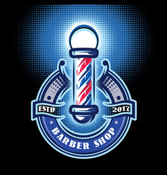 colored templates for barber pole on the topic of vector image