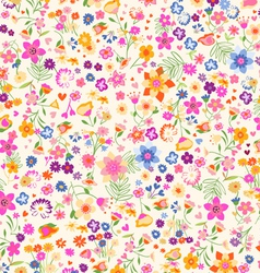 ditsy flowers vector image vector image