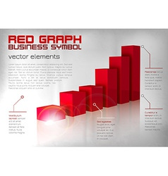graph red text vector image vector image